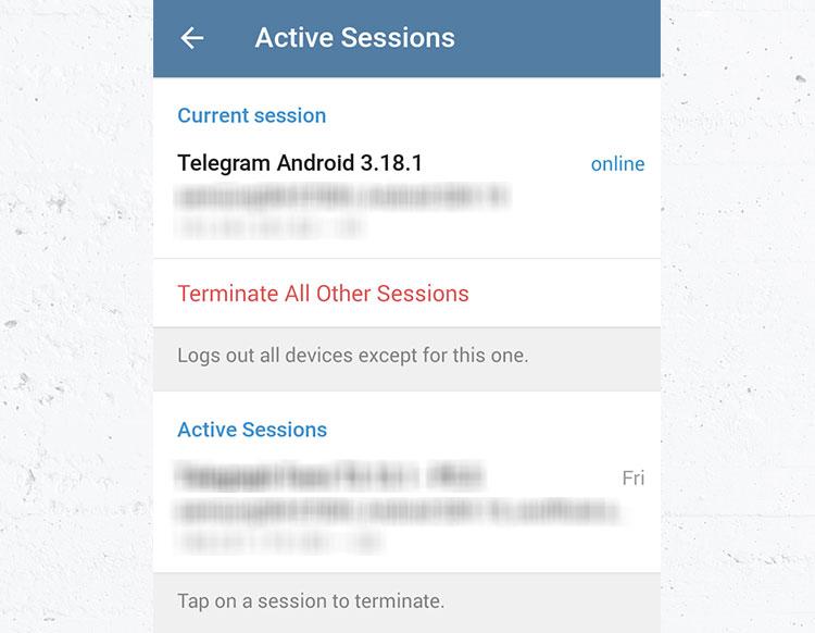 آموزش چک کردن دستگاههای متصل به اکانت تلگرام شما (Active Sessions) (آیا هک شدهاید؟)
