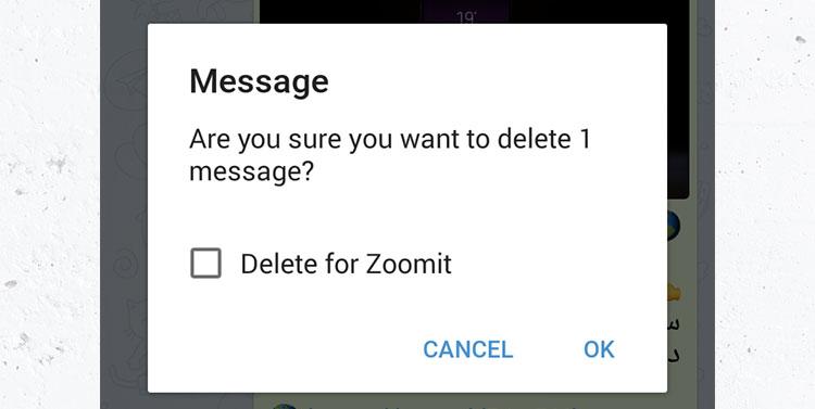 آموزش حذف (Delete) پیامهای ارسالشده: متن، استیکر و اموجی در تلگرام