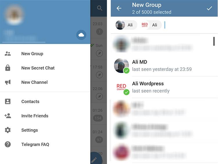 آموزش تصویری ساخت گروه (group) در تلگرام