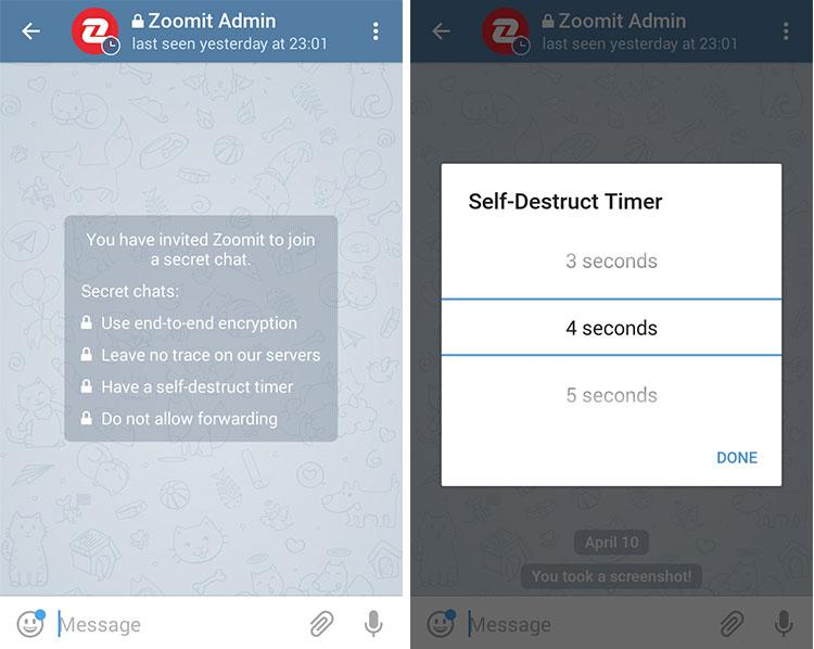 آموزش تصویری شروع گفتگوی خصوصی (سکرت چت Secret Chat) در تلگرام و مزایای آن