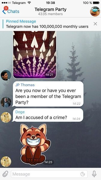 پین کردن پیام در سوپر گروه تلگرام (Pin)