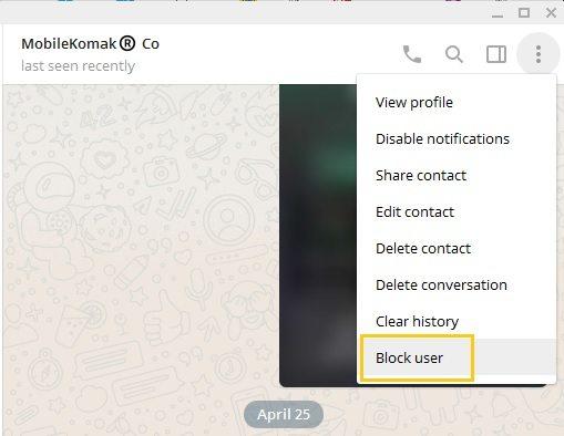 block user بلاک کردن در تلگرام