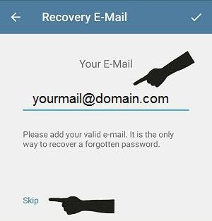 تایید دومرحله ای تلگرام