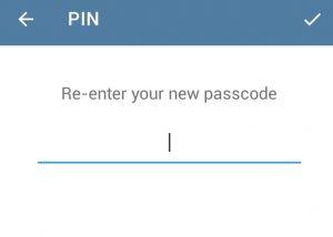 فعال کردن پسورد محلی در تلگرام