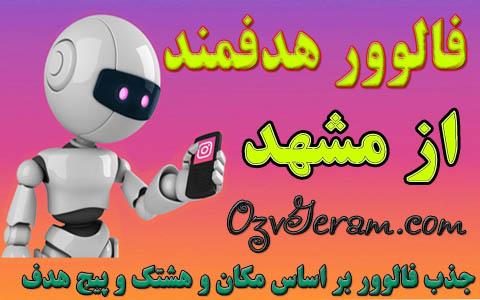 follower real in mashhad , فالوور هدفمند از مشهد