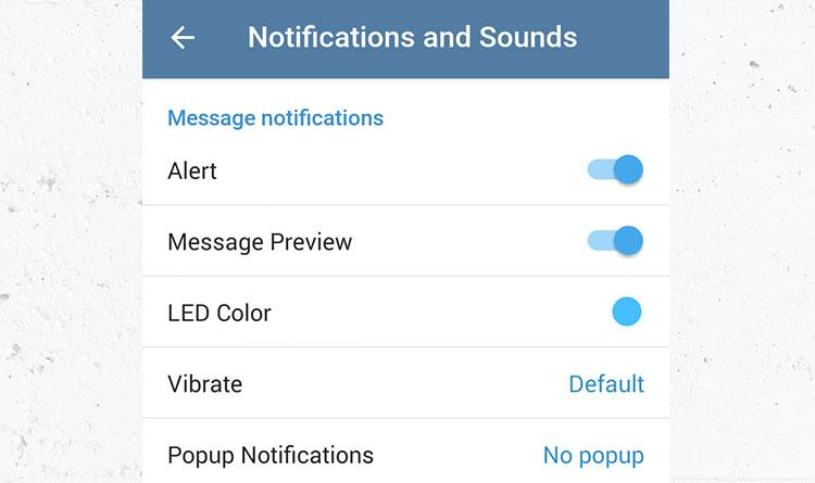 آموزش تصویری تغییر صدای زنگ پیامها: همه یا اشخاصی خاص در تلگرام