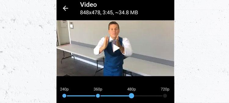 آموزش ارسال ویدیو با امکان تغییر کیفیت در تلگرام