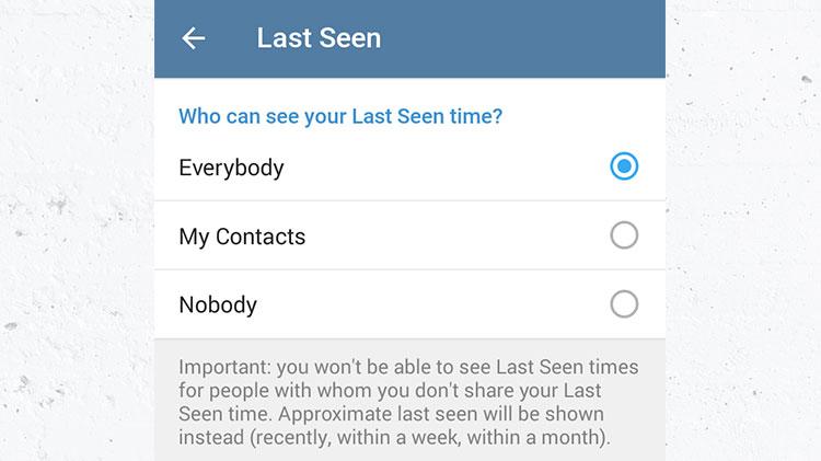 آموزش عدم نمایش زمان آخرین حضور (Last Seen Recently) در تلگرام