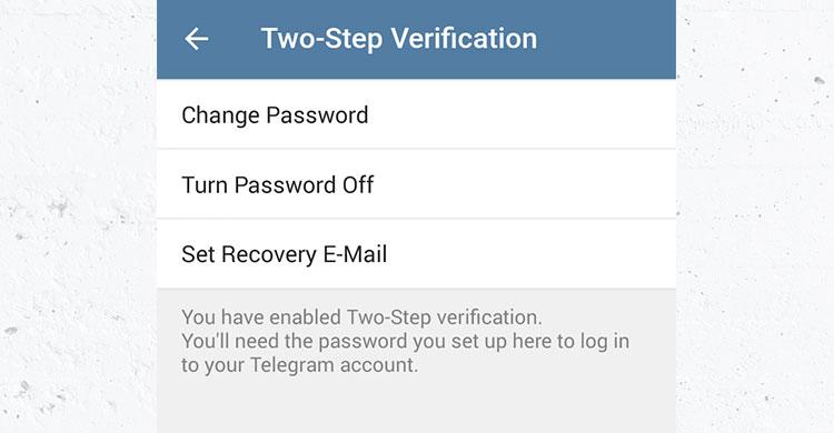 آموزش احراز هویت دومرحلهای (Two Step Verification) در تلگرام