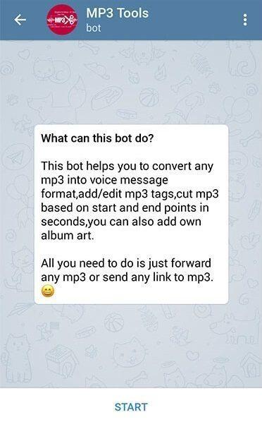 آموزش تصویری نحوه استفاده از ربات تلگرام Mp3Toolsbot برای تبدیل موزیک به ویس